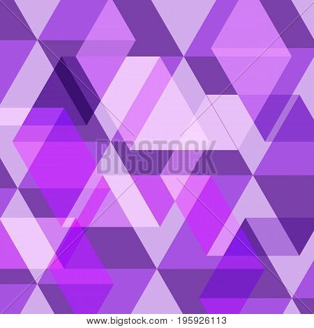 Abstract purple geometric template background, stock vector