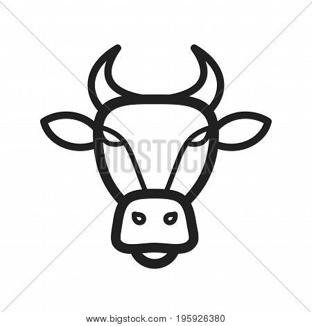 Buffalo, face, animals icon vector image. Can also be used for Animals Faces. Suitable for mobile apps, web apps and print media.