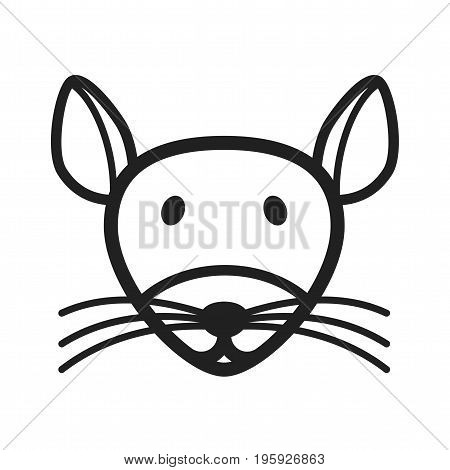 Mouse, animal, rat icon vector image. Can also be used for Animal Faces. Suitable for mobile apps, web apps and print media.