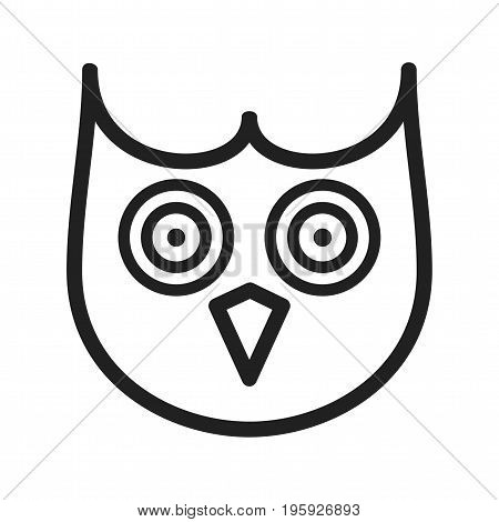 Owl, face, eyes icon vector image. Can also be used for Animals Faces. Suitable for mobile apps, web apps and print media.