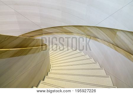 Interior Of Luxury Building With Marble Stairs
