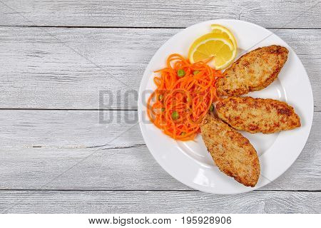 Chicken Turkey Mince Cutlet On Plate