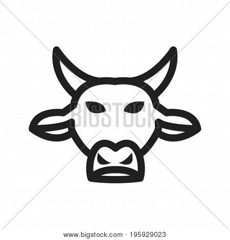 Taurus, sign, zodiac icon vector image. Can also be used for Zodiac. Suitable for use on web apps, mobile apps and print media.