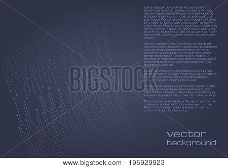 Abstract technological grey background with elements of the microchip. Circuit board background texture. Vector illustration.