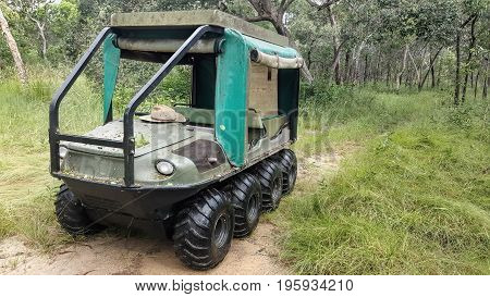 8 wheel Drive All Terrain Vehicle in the bush