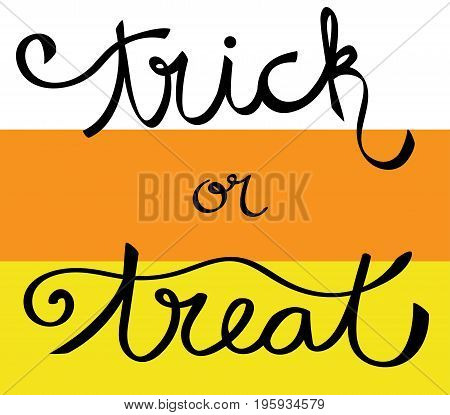 Happy Halloween Orange and Yellow Trick or Treat Lettering