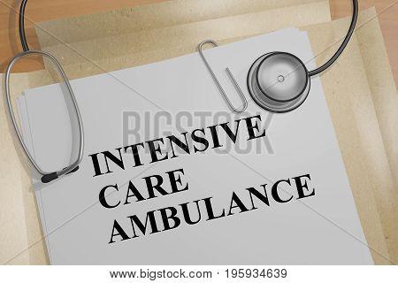 Intensive Care Ambulance - Medical Concept