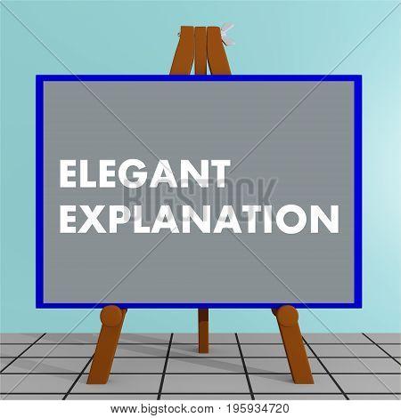 Elegant Explanation Concept
