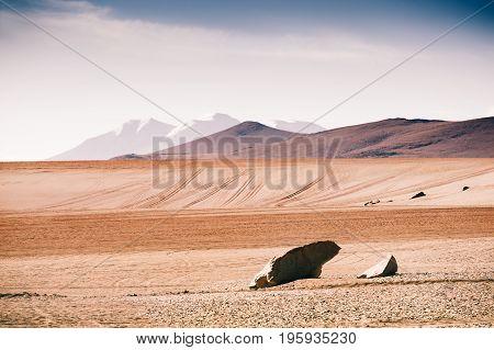Desert Landscape On Altiplano, Bolivia