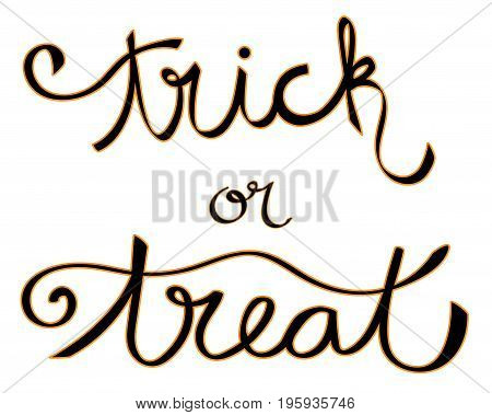 Happy Halloween Holiday Trick or Treat Lettering