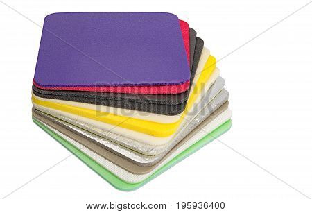 Polyethylene Foam Multi Colour and type Material Closed Up