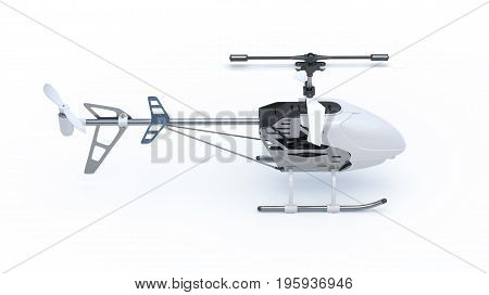 Toy Helicopter 3D rendering in different angles