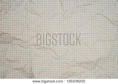 Crumpled Paper Texture With Cell. Abstract background empty template.