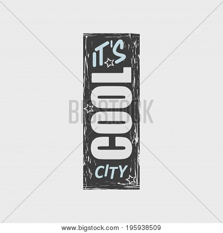 Vector Illustration With Phrase It's Cool City