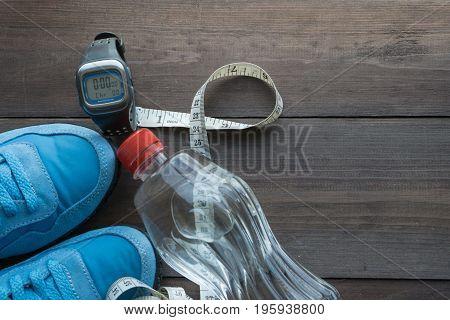 Sport Eqipment And Water Bottle