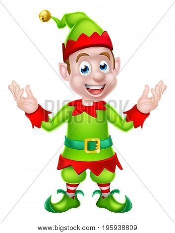Cartoon Christmas Elf or Santa Christmas helper