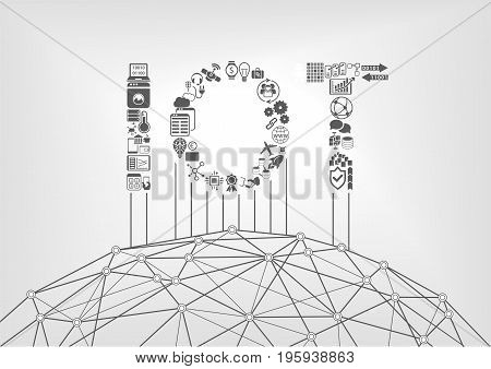 Internet of Things concept with IOT text