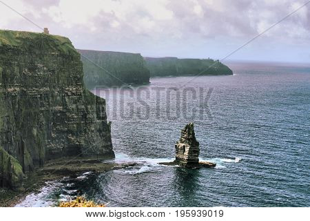 Cliffs of Moher. County Clare Ireland - HDR