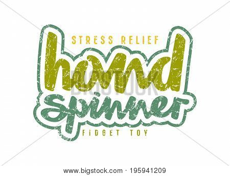 Handwritten Emblem Of Hand Spinner