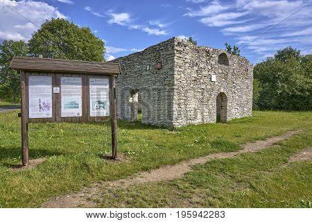 Zarki, Poland - July 16, 2017: Ruins Of The Church Of Sts. Stanislaw In Zarki On 16 July 2017 In Zar