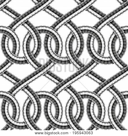 Seamless pattern of shower hoses. Vector illustration