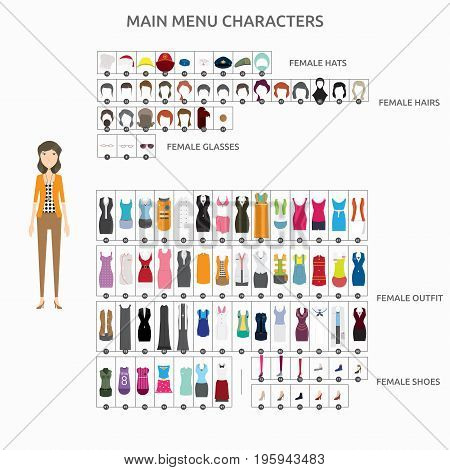 Character Creation Designer   set of vector character illustration use for human, profession, business, marketing and much more.The set can be used for several purposes like: websites, print templates, presentation templates, and promotional materials.