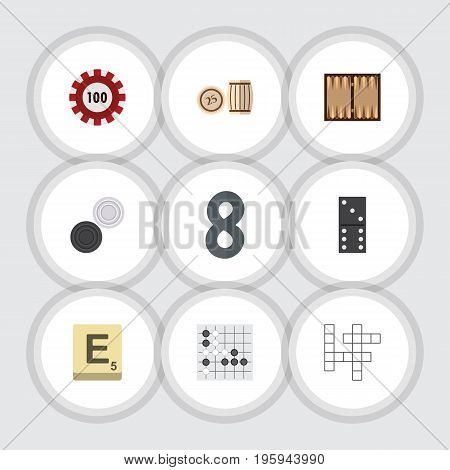 Flat Icon Games Set Of Poker, Lottery, Guess And Other Vector Objects