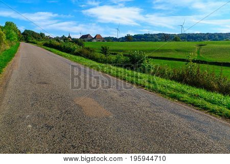 Country Road In Cote Dor, Burgundy