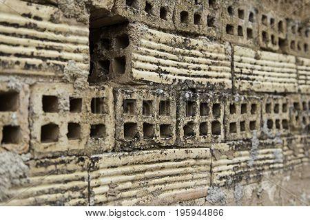 Battered Old Mud Brick Wall