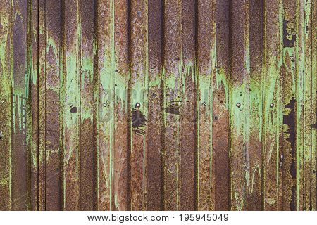 Oxidized Metal Door Security And Protection