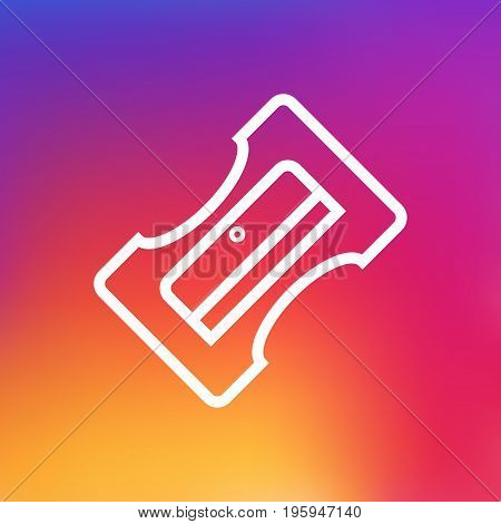 Isolated Supplies Outline Symbol On Clean Background