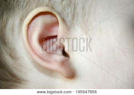 Otitis In The Child Is A Pain. Photo