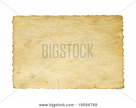 High resolution old paper vintage background isolated on white