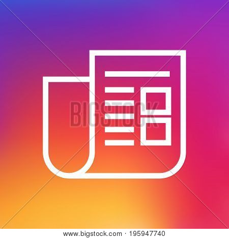Isolated Journal Outline Symbol On Clean Background
