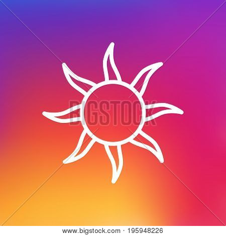 Isolated Solar Outline Symbol On Clean Background