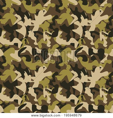 Vector Camouflage Pattern. Vector Background Of Soldier Grey. Camouflage Pattern Background. Classic