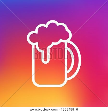 Isolated Ale Outline Symbol On Clean Background