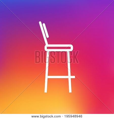 Isolated Chair Outline Symbol On Clean Background