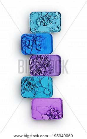 Colored Crushed Eyeshadow For Make Up As Sample Of Cosmetic Product