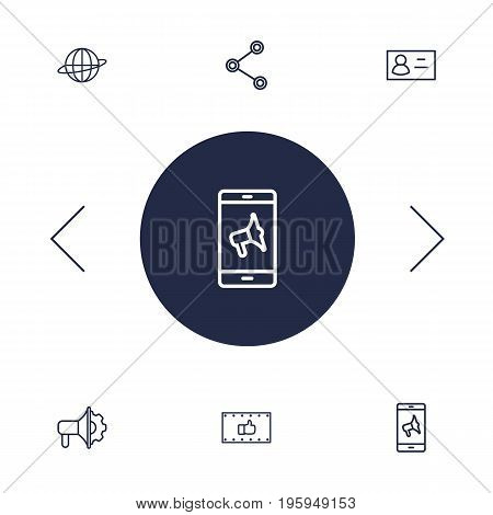 Set Of 6 Commercial Outline Icons Set