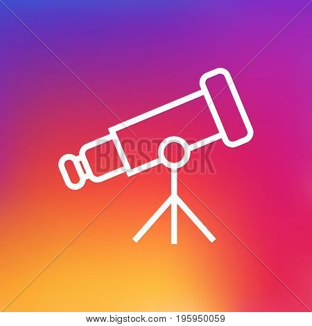 Isolated Binoculars Outline Symbol On Clean Background