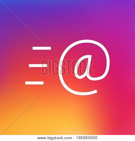 Isolated Message Outline Symbol On Clean Background