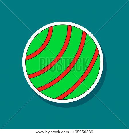 paper sticker on stylish background Fitball sport