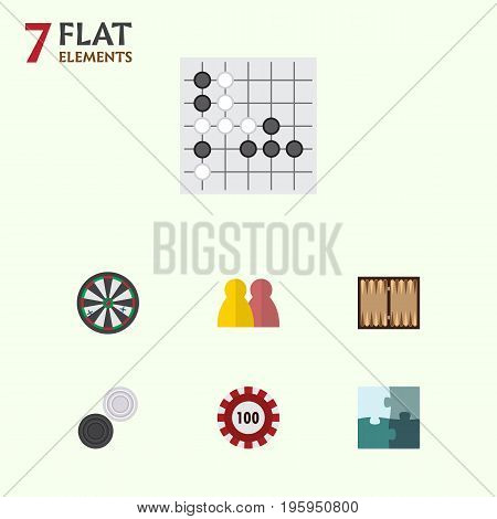 Flat Icon Play Set Of Arrow, Poker, People And Other Vector Objects