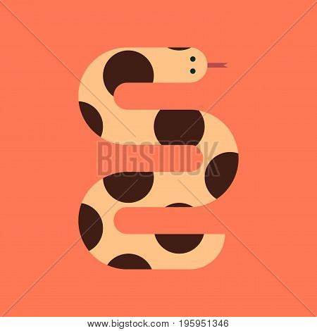 flat icon on stylish background wildlife snake
