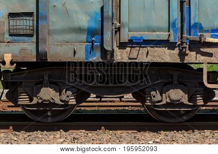 RAILWAY WAGON - A railway wagon for freight by rail