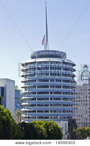 Capitol Records Building In The Heart Of Hollywood
