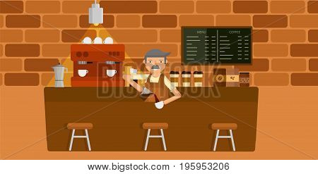 background coffee shop  vector graphic or illustration