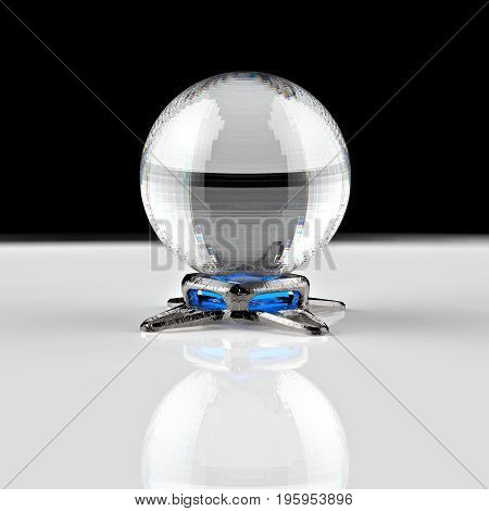 3D Rendering. Crystal Ball.