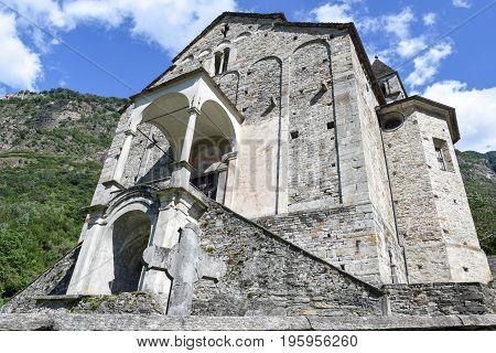St Peter And Paul Church In Biasca, Switzerland